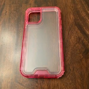 iPhone 11 clear/pink protective case